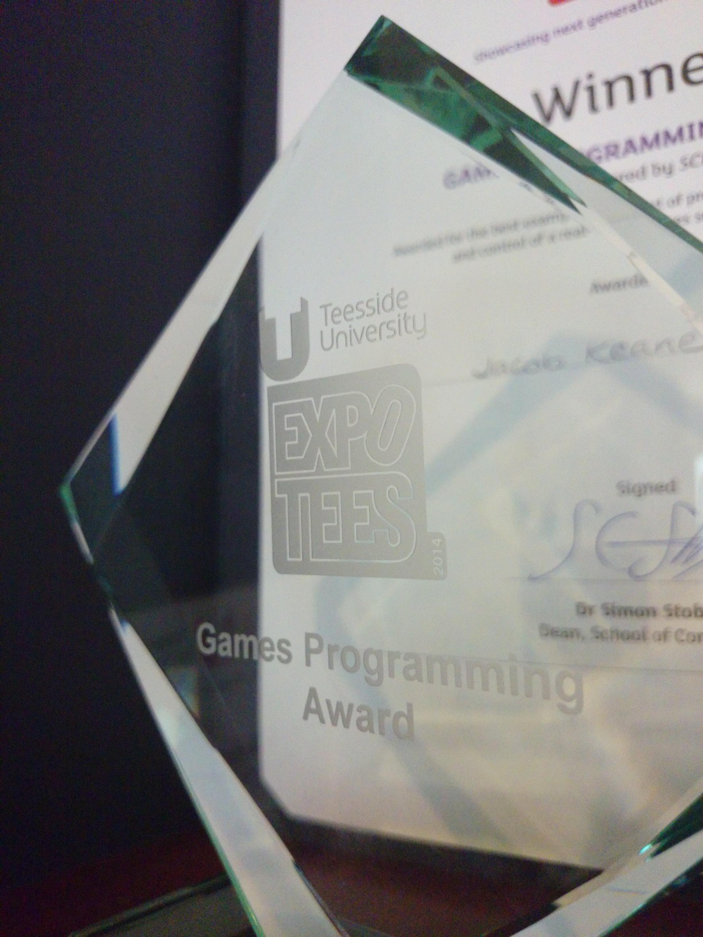 ExpoTees Games Programming Award